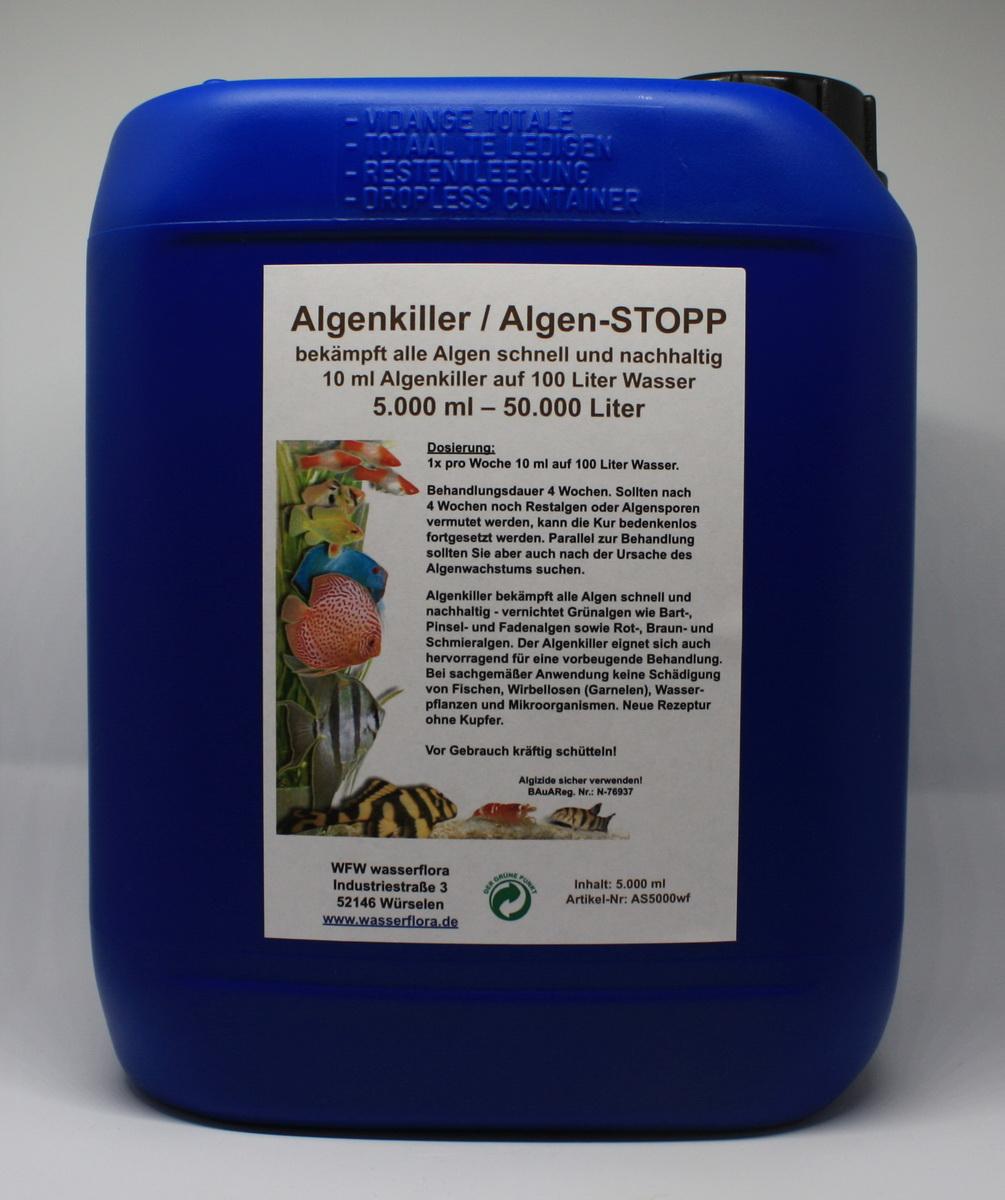 5 liter kanister algenkiller algen stopp f r liter aquarium w. Black Bedroom Furniture Sets. Home Design Ideas
