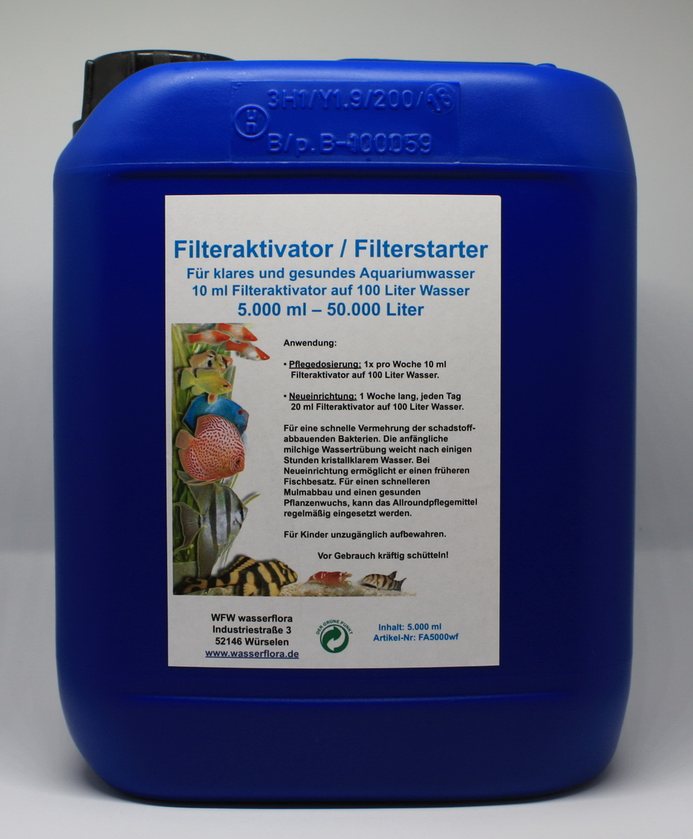 5 liter kanister filteraktivator filterstarter f r liter aqua. Black Bedroom Furniture Sets. Home Design Ideas