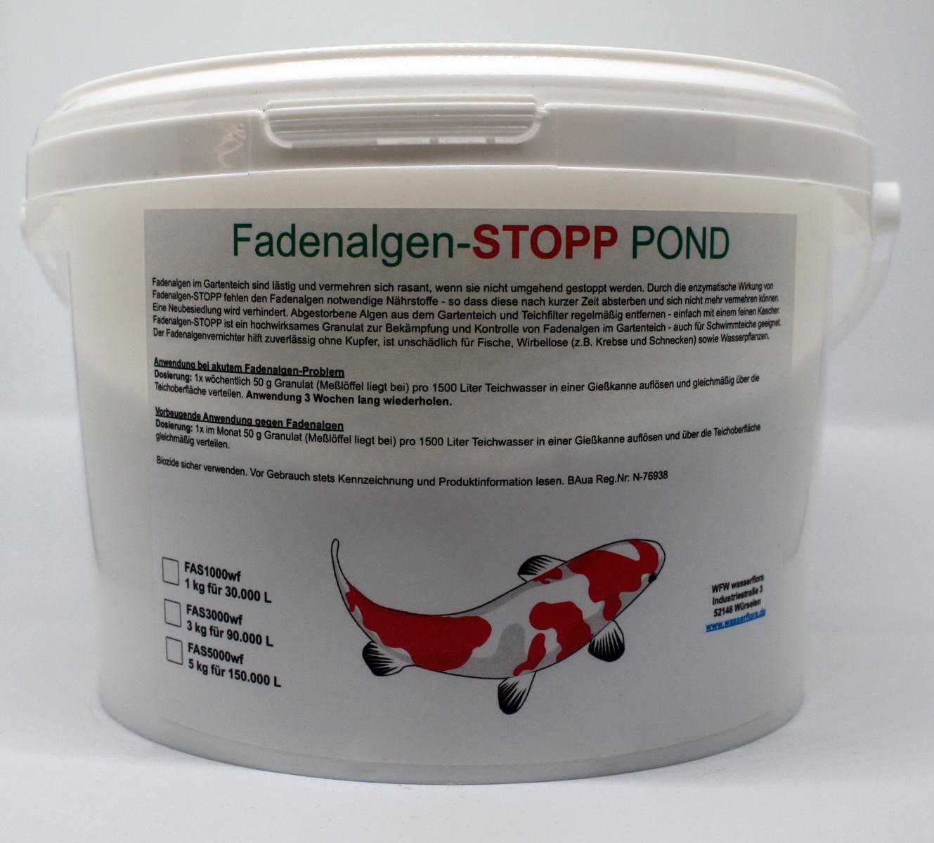 5 kg fadenalgen stopp pond granulat gegen fadenalgen im for Store im gartenteich